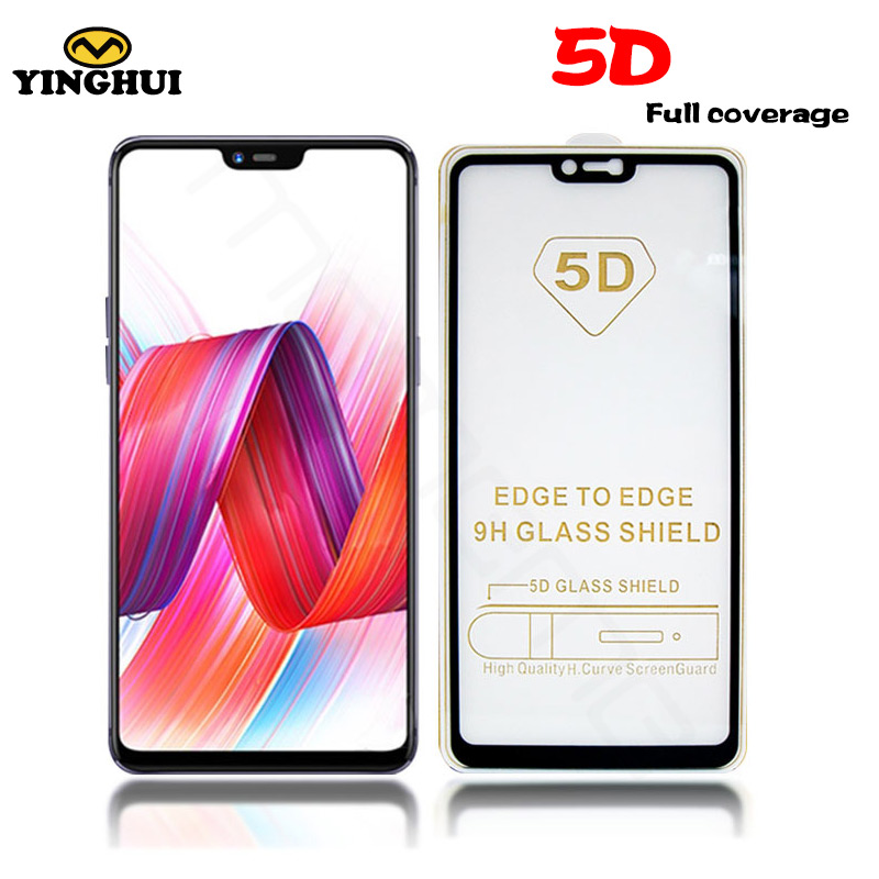 5D Tempered Glass OPPO F5 F7 R9 R11 Plus R15 A59 A71 A73 A77 A79 A83 Full Coverage Screen Protector Protective Film Full Glue