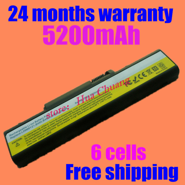 L09m6y21 l09s6y21 jigu novo 6 células bateria do portátil para lenovo b450 b450a b450l