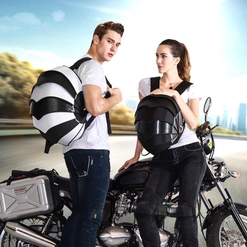 Рок-Байкерский Многофункциональный мотоциклетный Рюкзак высокой емкости с полулицевым покрытием, мотоциклетная сумка для шлема, багажная ...