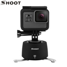 360 Degrees Time Lapse Head Tripod Head for Gopro Hero 6 5 3 4 Session Yi 4K SJCAM Eken Sports Camera With Tripod Head Set(China)