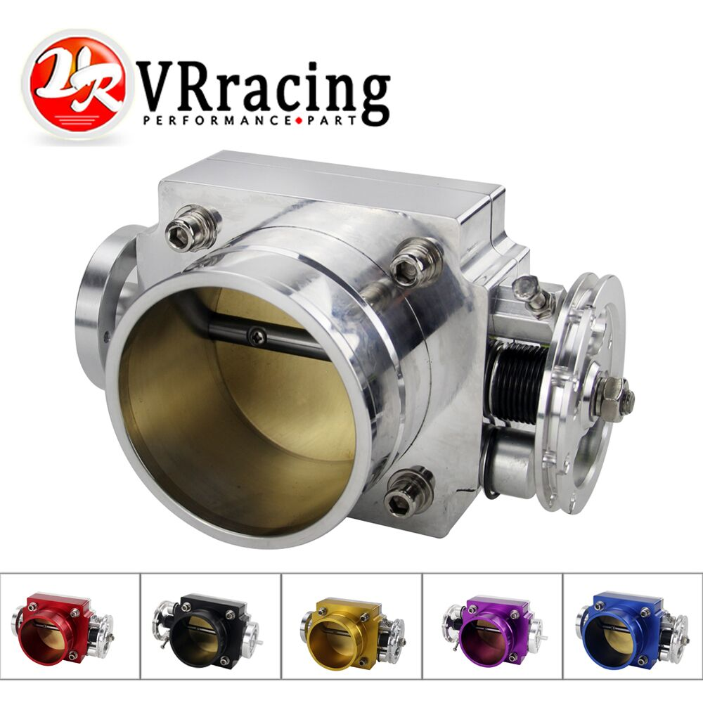 VR RACING - JAUNA THROTTLE BODY 70MM THROTTLE BORNES VEIKTSPĒJA IESPĒJIET MANIFOLD BILLET ALUMINIUM HIGH FLOW VR6970