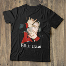 Billie Eilish Fans T Shirt We Love Black Cotton Men S-3XL Novelty Cool Tops Short Sleeve T-Shirt