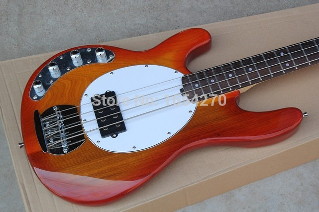 Free shipping hot MusicMan Sting Ray 4 Strings Active Pickup Left-handed Electric Bass Guitar In Stock . 1