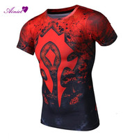 Summer Men S Newest Fashion T Shirt The WOW Compression Shirt Short Sleeve Sport Tee Fitness