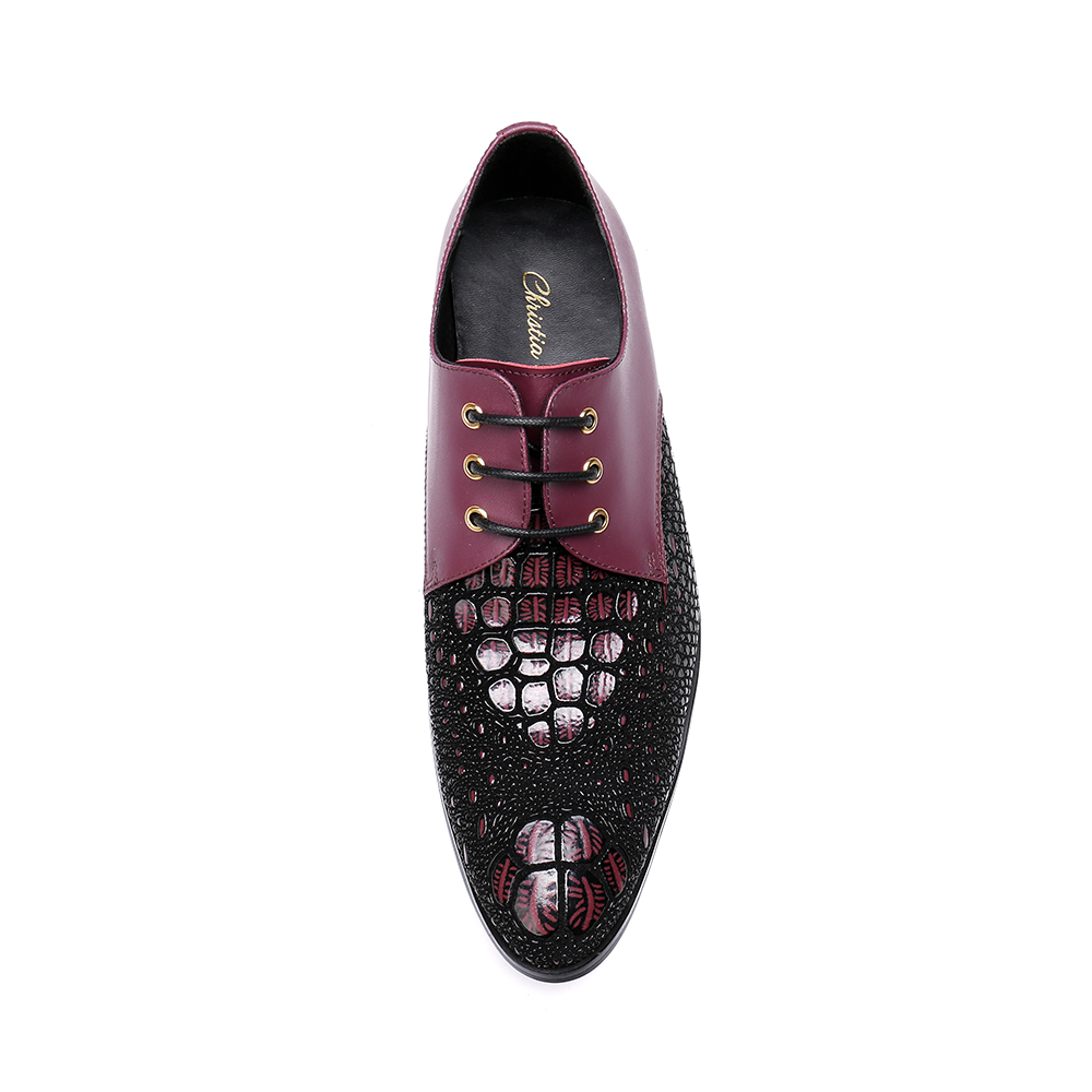 eadc91833 Christia-Bella-hombres-zapatos-de-vestir-de-cuero-genuino-Crocodile-Print- rojo-encaje-hasta-los-hombres.jpg