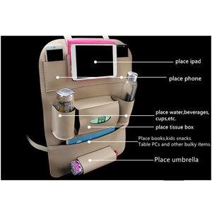 Image 4 - עיבוי GSPSCN 1 pc רכב כרית מושב אחורי מושב קדמי כריכה אחורית רב תכליתי עור Pu מגן כיסוי עם שקית אחסון נסיעות