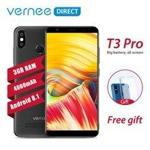 Оригинальный Vernee T3 Pro смартфон 3 ГБ Оперативная память 16 ГБ Встроенная память сотовый телефон Dual SIM 4080 мАч 5,5 дюймов face ID 4 г Android 8,1 мобильный телефон