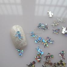 GD9-1 20 г/пакет Симпатичные лазерные серебряные купиды ногтей наклейки на ногти милые украшения ногтей украшения