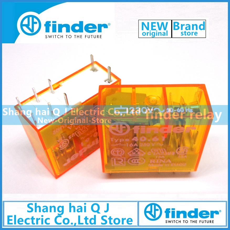 Brand new and original finder 40 61 8 230 0000 type 40 61 230VAC 16A relay