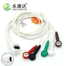 Mortara Snap/AHA 5 приводит ЭКГ кабель holter, бесплатная доставка