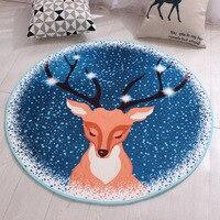 Zeegle קריקטורה עגול שטיח לסלון אנטי להחליק ילדים חדר שטיחים מיטת רצפת מחצלות מיקרופייבר ילדי של שטיח עבור חדר-בשטיח מתוך בית וגן באתר