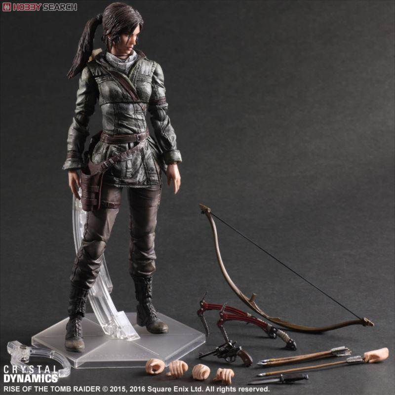 все цены на Rise of the Tomb Raider PLAY ARTS Kai Lara Croft Anime Movie Model PVC Action Figure онлайн