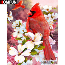 HOMFUN Full Square/Round Drill 5D DIY Diamond Painting Birds and flowers 3D Embroidery Cross Stitch Home Decor A21352