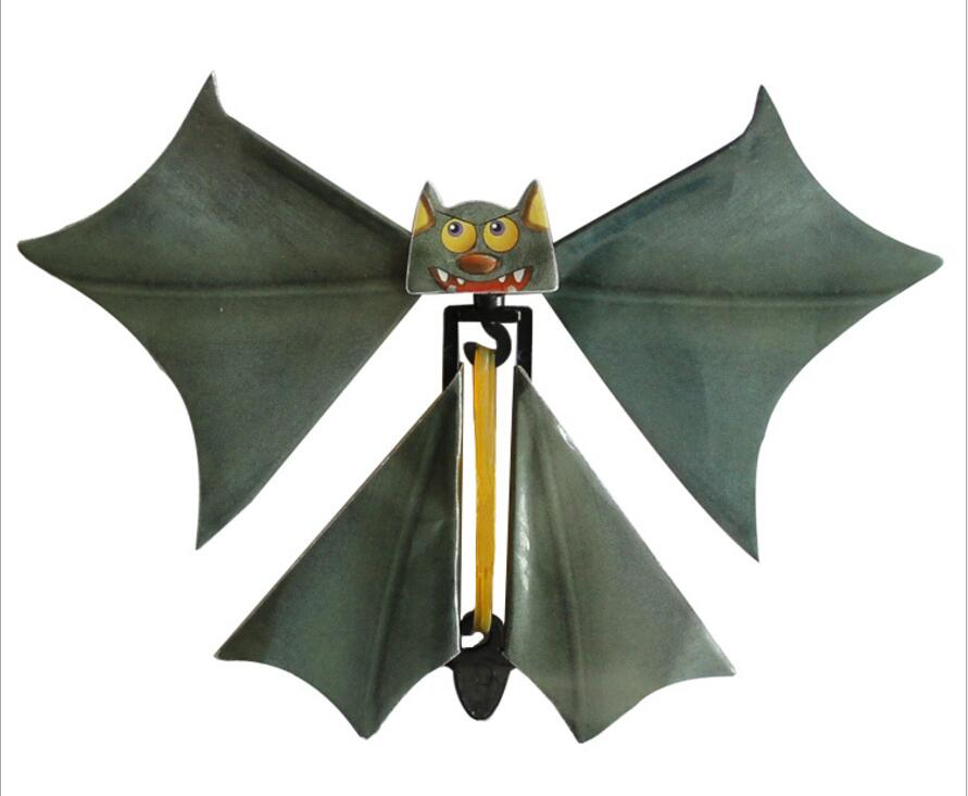 IWish 145mm Halloween Magic Bat Flying Hand Fly Butterfly Magical Props Surprise Prank Joke Hallowmas Kids All Saints' Day Toys