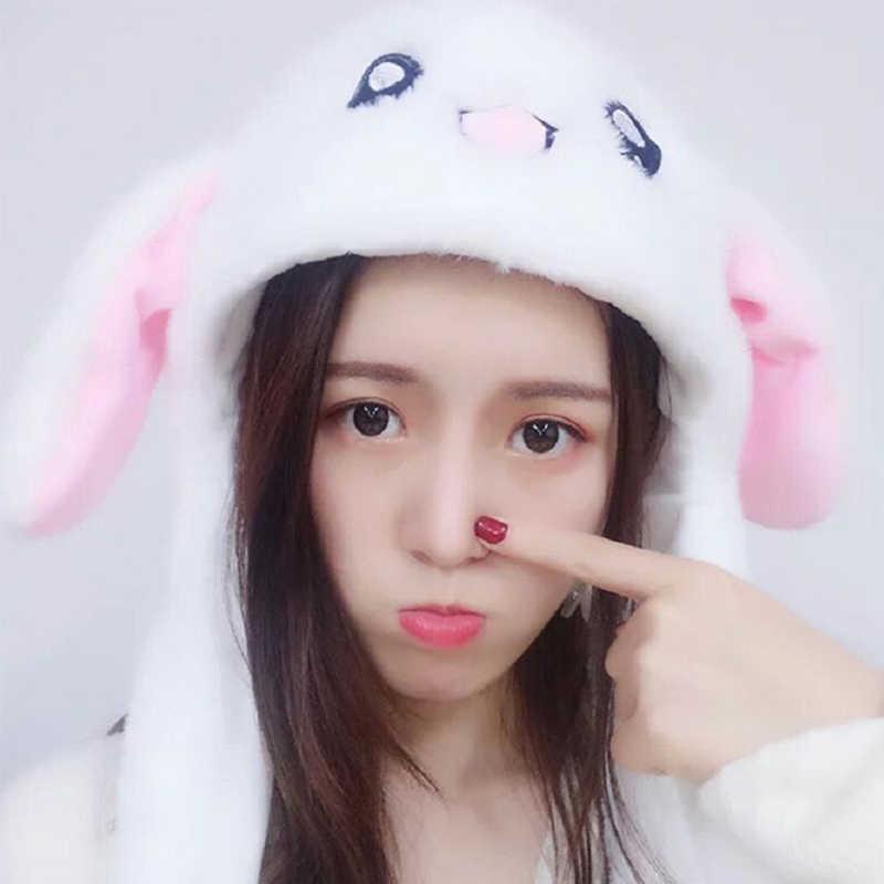 M MISM 2019, горячая Распродажа, плюшевый ободок с кроличьими ушами, забавные вечерние, зимние, теплые, движущиеся кроличьи ушки, для детей, девочек, женщин, шапка, подарок