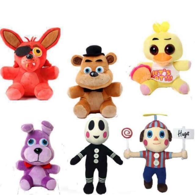 Free shipping 25cm - 30cm FNAF Five Nights at Freddy Bear Fox Bonnie Chica Golden Freddy Nightmare Fredbear Kids Plush Toys
