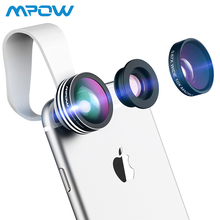 Mpow 3 in 1 Fish Eye Lens 180 Degree Supreme Fisheye 0.67X Wide Angle 10X Macro Phone Lens with Clip for iOS Android 8mm f3 8 fish eye c mount wide angle fisheye lens focal length fish eye lens suit for nikon 1 aw1 v1 v2 v3 j1 j2 j3 j4 j5 s1 s2