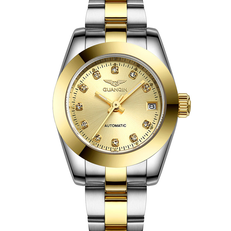 GUANQIN GQ70005 Automatic watch women Luxury Waterproof Diamond sapphire gold watch men watches top brand 12 month Guaranteed guanqin gq70005 men auto mechanical watch