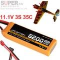3 s 11.1 v 5200 mah 35c modelo de avión batería 35C 5200 mah aeromodeling aviones modelo de la batería del li-polímero batería batería de aviones no tripulados