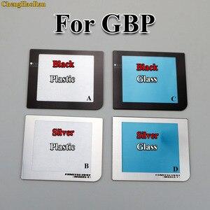 Image 1 - ChengHaoRan 1 шт. Высокое качество золото черный серебро для GBP Защитная лампа отверстие пластиковый стеклянный экран Объектив для Nintendo GameBoy Карманный