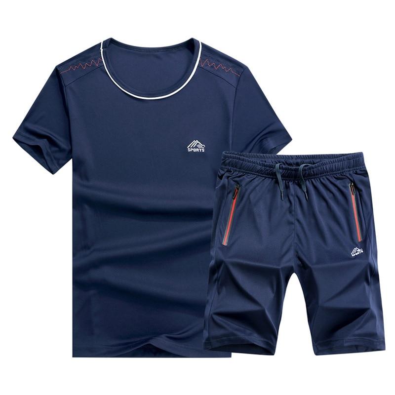 X-Future Men Solid 2 PCS Outfits Big /& Tall T-Shirts Casual Linen Shorts Tracksuit