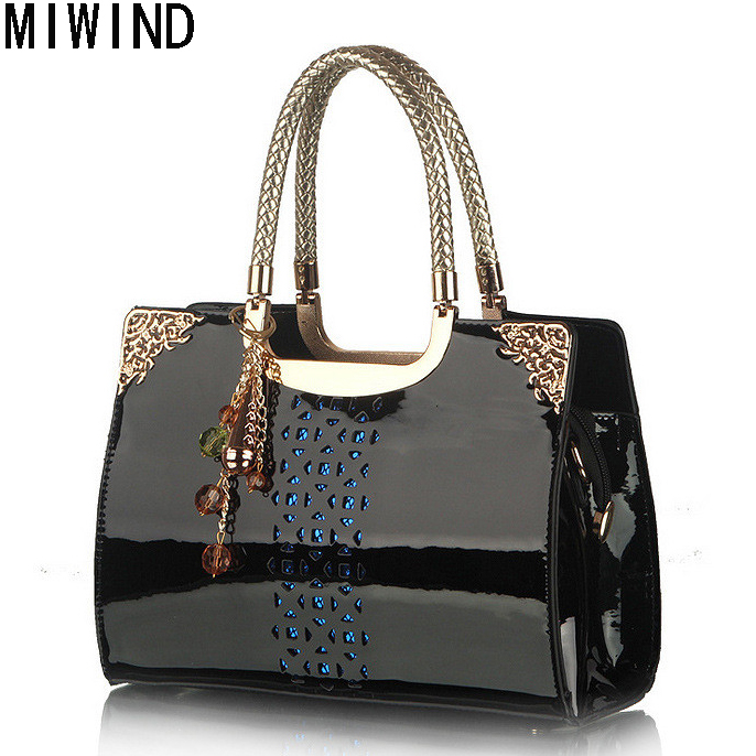 Fashion Patent Leather Women Tote Bag Luxury Handbags Women Bags Designer Handbags High Quality Shoulder Bag For Women  T1280 new fashion luxury women bags handbags women famous brands shoulder bag designer tote high quality patent leather messenger bag