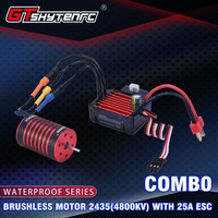 GTSKYTENRC Combo 2435 4800KV Brushless Motor w/ 25A ESC For 1:18 RC Buggy Drift Racing Car Part Accessories For children