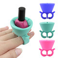 Creative Gel Polish Nail Art 1Pcs Bottle Display Silicone Stand Holder Women maquiagem Wearable Nail Art Tips Nail Polish Tools