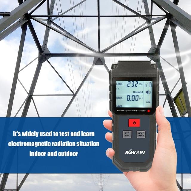 KKmoon يده الرقمية LCD EMF متر اختبار الإشعاع الكهرومغناطيسي المجال الكهربائي المجال المغناطيسي قياس الجرعات الكاشف