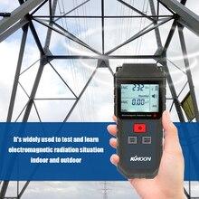 Kkmoonハンドヘルドデジタルlcd emfメーター電磁放射線テスター電界磁気フィールド線量計検出器