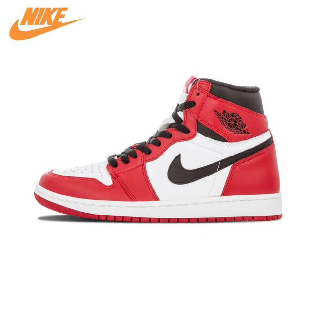 Nike Air Jordan 1 Retro High OG Chicago Breathable Men's Basketball Shoes  Sports Sneakers Trainers 575441