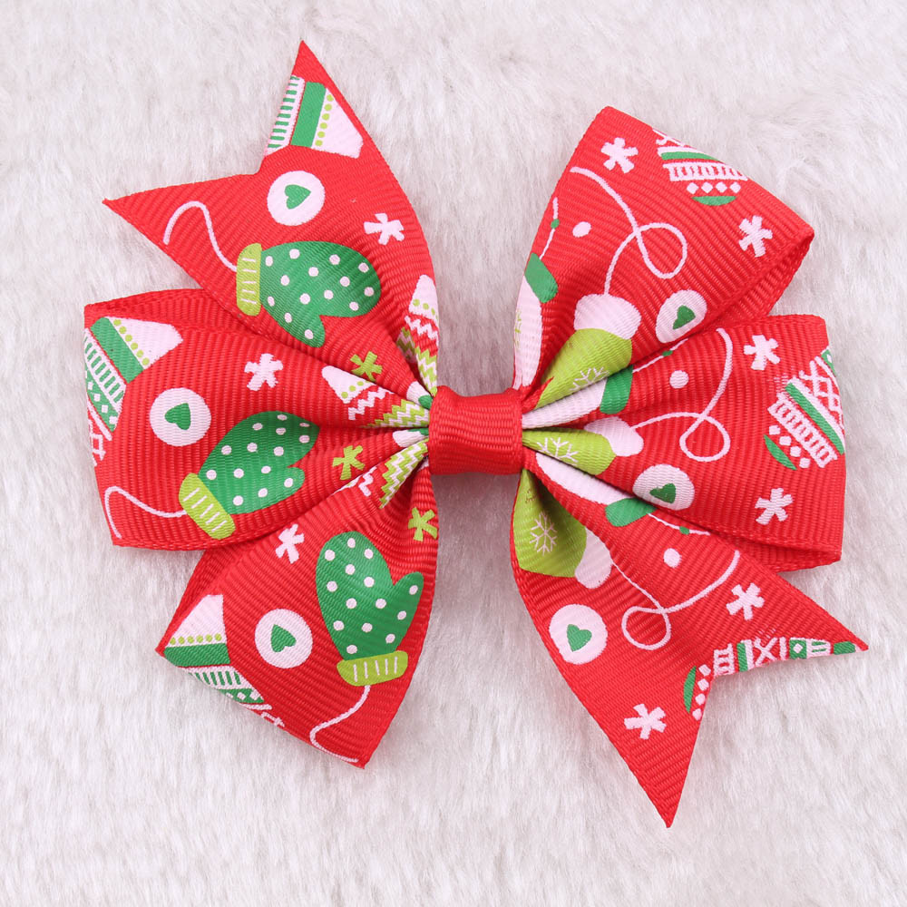 2017 gift Baby Headband Scrunchies Christmas Gifts For Gril 1Pair Fashion Toddler Baby Kids Girls Bowknot Hairpin Headdress ov9