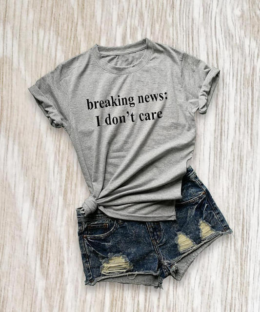 "Breaking news i don""t care funny dog shirt sayings for men ..."