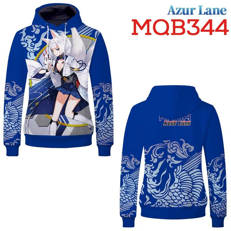 Game  Azur Lane 3D Print Sweatshirts Pullover Hoodies Sports Leisure Streetwear Teenagers Cosplay Costume Jacket Coat Tops