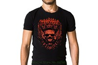 Tshirt Summer Style Fashion Men T Shirts Hatebreed Band Red Angelic Crowned Skull Black Logo T