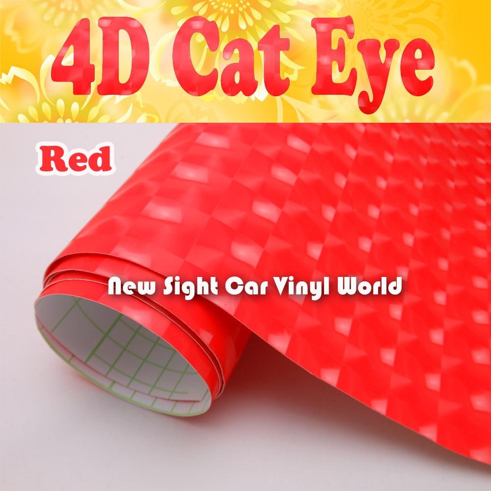 High Quality Red 4D font b Cat b font font b Eye b font Vinyl Film