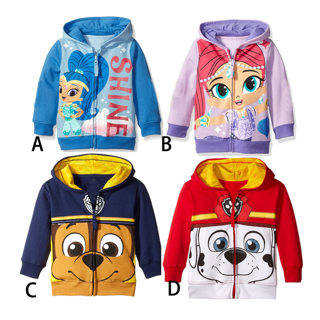 2016 New style Cartoon Sweatshirts coat Cartoon Dog hoodie Cartoon girls boys Autumn clothing Free shipping 90-120cm E1439