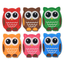 Owl Anime Embroidered Patch Iron on Clothes Badge for Backpack Patches for Clothing Applique Sew on Sticker Fabric Accessories(China)