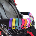 3Pcs/Lot New Plastic Stroller Cup Holder Pram 2 Hooks Nylon Pushchair Car Hanging Strap Portable Baby Stroller Accessories