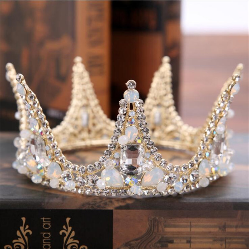 wedding crown headband Tiaras for Women flower bride crystal tiaras crowns king Wedding Hair Accessories Fashion jewelry