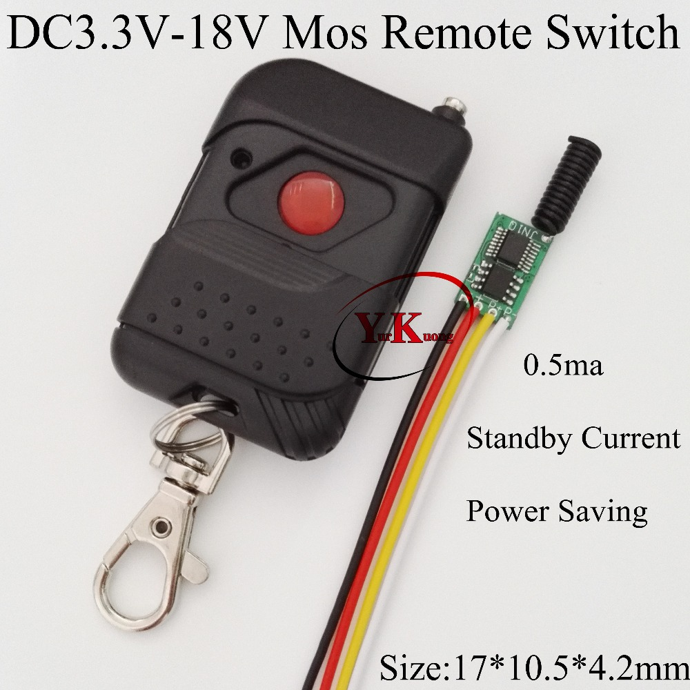 Power Saving Micro Remote Switch Mos No Noise Mini Wireless Remote Switches 433.92MHZ Ultra Small 3V 3.3V 3.7V 4.2V 5V 6V 7.4V access control power remote switch 3s 8s delay off mini wireless switch mos no noise rf micro receiver console 433 5v 9v 12v 6v