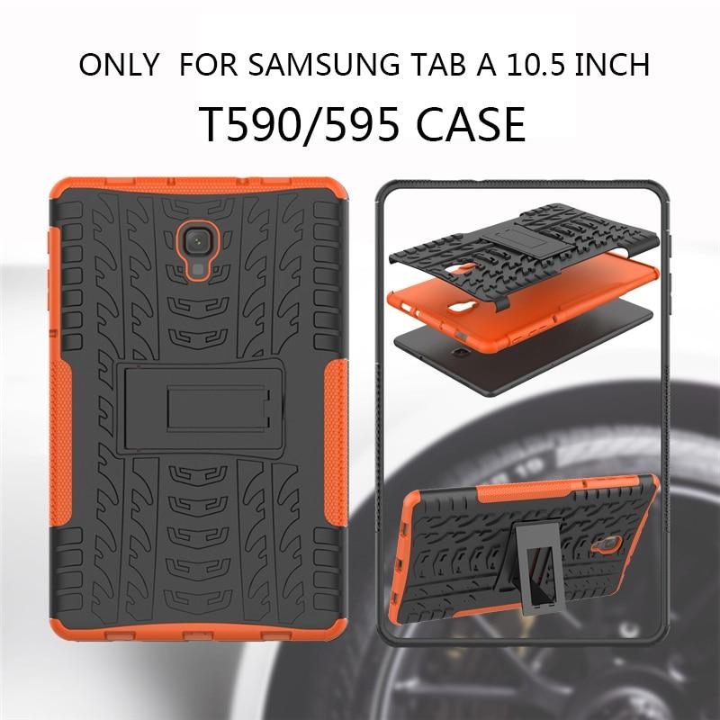 Rugged stand case for Samsung Galaxy Tab A A2 10.5 inch 2018 SM T590 T595 T597 Heavy Duty Funda Tablet 2 in 1 Hybrid case