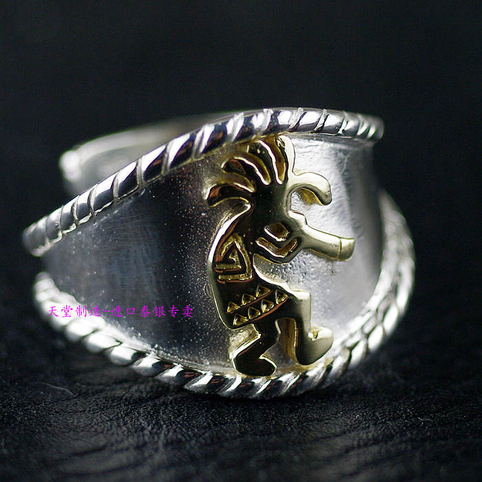 все цены на Thailand imports 925 Sterling Silver Genuine GV product, the patron saint of Indian opening ring онлайн