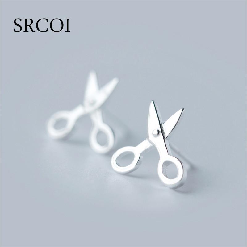 d6c0871da Cute Tiny 925 Silver Scissor Earrings Studs Genuine Silver Earrings For  Girls Hair Stylist Lab Tested Hypoallergenic Jewelry-in Stud Earrings from  Jewelry ...