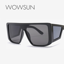 WOWSUN New Oversized  Square Sunglasses Men Women Brand Designer Driving Holiday Large Black Blue Gray UV400 A715