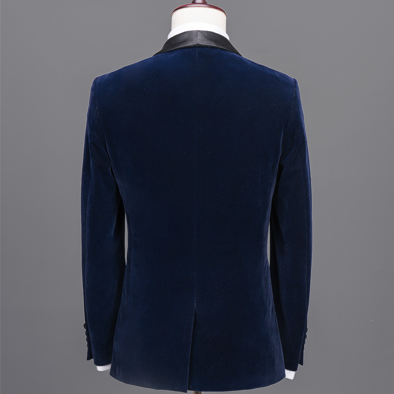 NA42 Navy Blue velvet blazer men velvet suit jacket fancy chinese alliexpress designer mens velvet blazers designs suit tailor