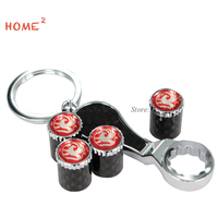 1 Set Auto Tire Valves Caps Wheel Parts Covers Car Keychain for Vauxhall logo for astra h j g vectra c insignia zafira corsa