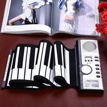 Buy 2016 Hot Sale Portable Flexible 61 Keys Silicone MIDI Digital Soft Keyboard Piano Flexible Electronic Roll Up Piano