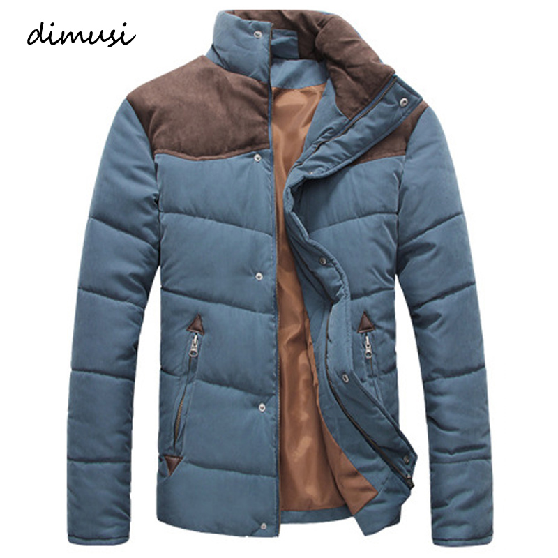 DIMUSI Winter Jacket Men Warm Casual Parkas Cotton Stand Collar Winter Coats Male Padded Overcoat Outerwear Clothing 4XL