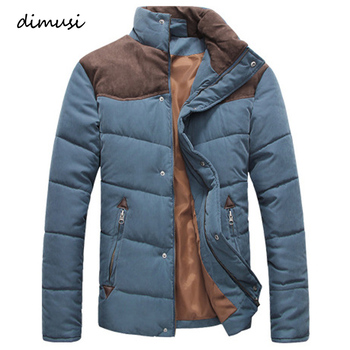 DIMUSI Winter Jacket Men Warm Casual Parkas Cotton Stand Collar Winter Coats Male Padded Overcoat Outerwear Clothing 4XL new winter women jacket outerwear parkas warm jacket maternity down jacket pregnant clothing winter warm clothing 16956